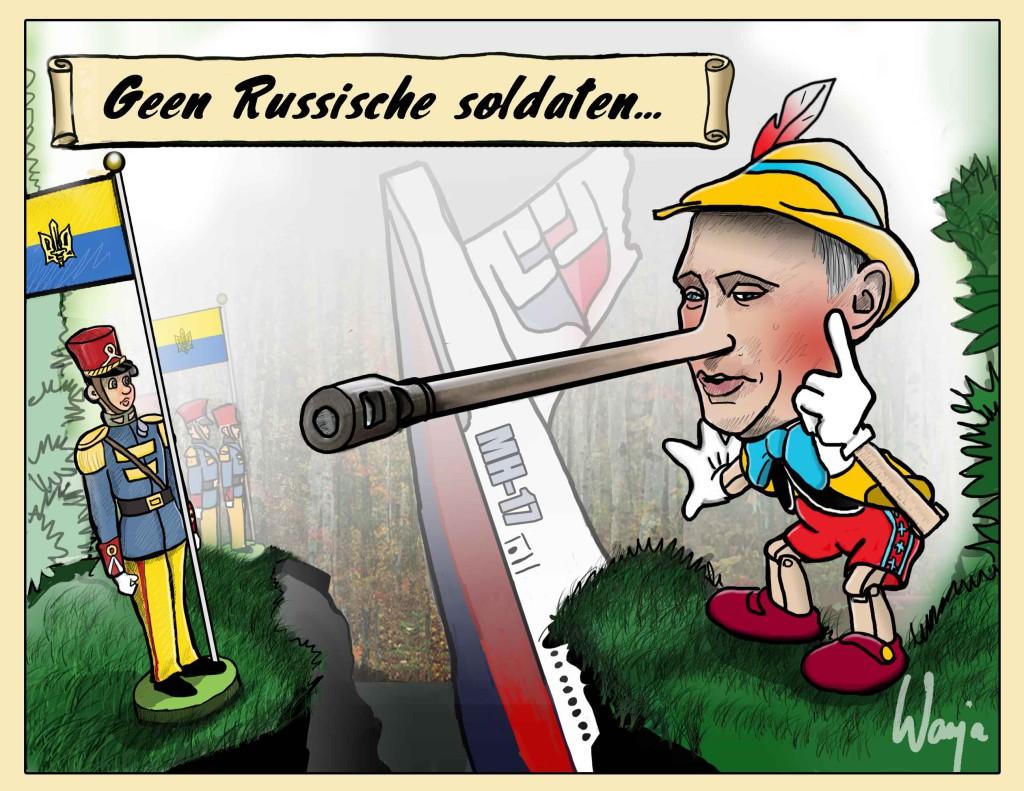 Geen Russische soldaten betrokken bij neerhalen vlucht MH17 ? Een echte kerel geeft zulke fouten toch toe? Wanja, Wan Cartoon / GraaiTV.