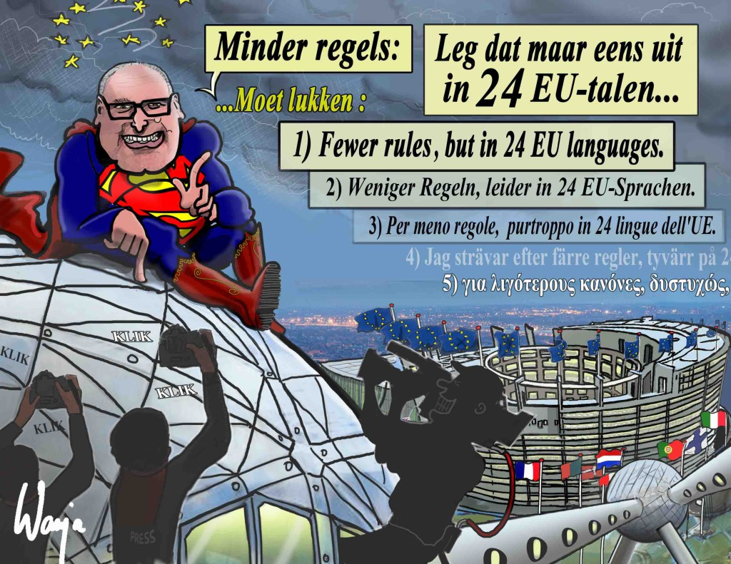 Supermans moet EU-regels verminderen. Mission Impossible? (Context).